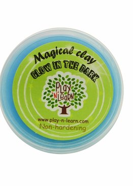 Putty Imaginative Play N Learn Party Gift Magical Clay Glow In The Dark Blue