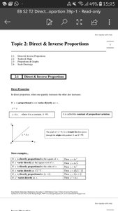 Exam Buddy Elementary Mathematics Secondary 2 (2020 Edition) Topic 2 Direct & Inverse Proportions