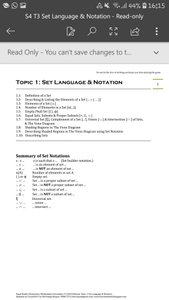 Exam Buddy Elementary Mathematics Sec 4 (2020 Edition) Topic 1: Set Language & Notation