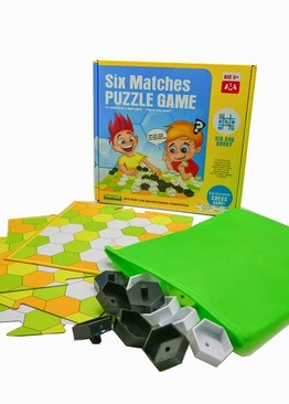 Board Game Math Skills Play N Learn Six Matches Puzzle Fun Learning Game