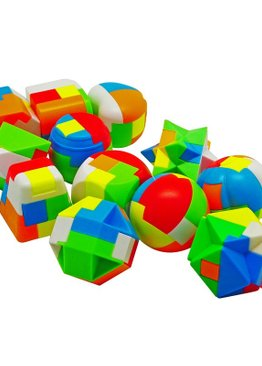 Developmental Toy For Kids Play N Learn Party Gift Luban Interlock IQ Puzzle 12 pieces per pack
