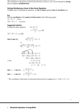 Ms Huang's Additional Mathematics (4047) Formulae & Summary Notes