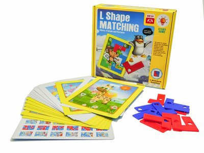 Play N Learn L Shape Matching Strategic Family Board Game