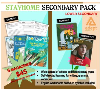 STAY HOME LOWER SECONDARY PACK