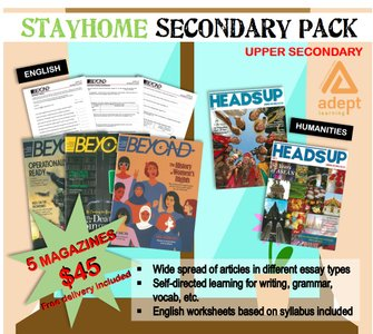 STAY HOME UPPER SECONDARY PACK