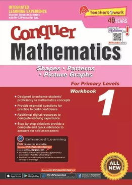Conquer Mathematics Shapes - Patterns - Picture Graphs Book 1