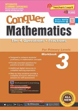 Conquer Mathematics The 4 Operations - Fractions Book 3