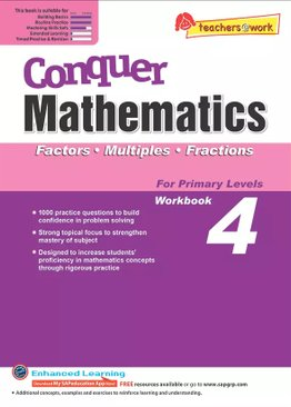 Conquer Mathematics Factors - Multiples - Fractions Book 4