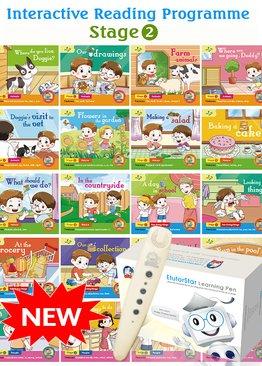 Interactive Reading Programme(Stage 2) Bundle of 20 Books + EtutorStar Learning Pen ( Preschool )