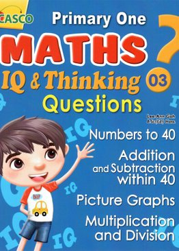 P1 Maths IQ & Thinking Questions Book 3
