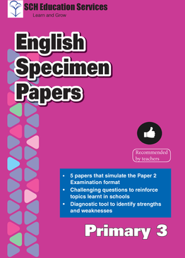 Primary 3 English Specimen Papers