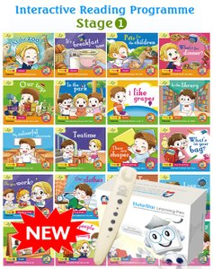 Interactive Reading Programme(Stage 1) Bundle of 20 Books + EtutorStar Learning Pen ( Preschool )