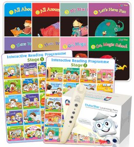 Interactive Reading Programme(Stage 1/2) + Magic Fun Book 1 to 8 + EtutorStar Learning Pen ( Preschool )