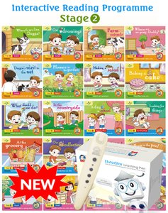 Interactive Reading Programme(Stage 2) Bundle of 20 Books + EtutorStar Learning Pen ( Preschool )