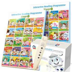 Interactive Reading Programme(Stage 1/2) Bundle of 40 Books + EtutorStar Learning Pen ( Preschool )
