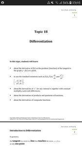 Exam Buddy Additional Mathematics (2020 Edition) Topic 18: Differentiation of Algebraic Expressions