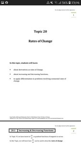 Exam Buddy Additional Mathematics (2020 Edition) Topic 20: Rates of Change