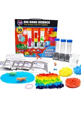 Educational Toys STEM Big Bang Amazing  10 Fun Science Chemistry Experiments For Kids Learning Resource