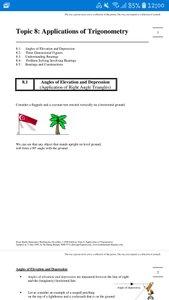 Exam Buddy Elementary Mathematics Sec 3 (2020 Edition) Topic 8: Applications of  Trigonometry