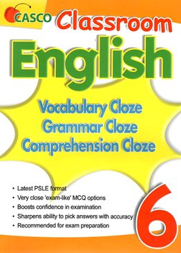 Classroom English Vocab/Grammar/ Comprehension Cloze 6