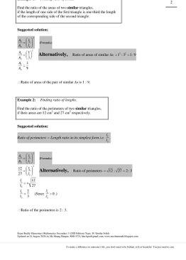 Exam Buddy Elementary Mathematics Sec 3 (2020 Edition) Topic 11: Similar Solids