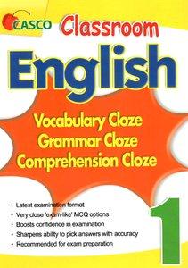 Classroom English Vocab/Grammar/ Comprehension Cloze 1
