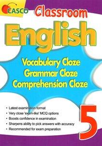 Classroom English Vocab/Grammar/ Comprehension Cloze 5