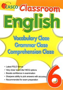 Classroom English Vocab/Grammar/ Comprehension Cloze 6
