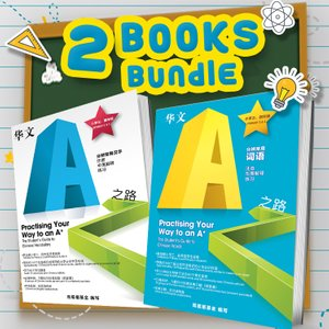 (2 Books Bundle) Practising Your Way to an A★ |   THE STUDENT'S GUIDE TO CHINESE WORDS & CHINESE VOCABULARY (小学 3-4 年级)