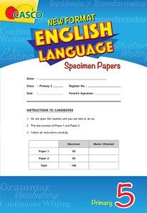 Primary 5 New Format English Language Specimen Paper