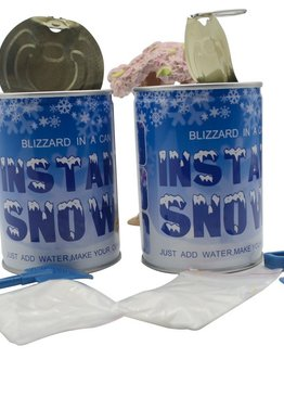 Party Novelty Fake Snow Making Science Experiment in a Can ( 2 in 1 set )