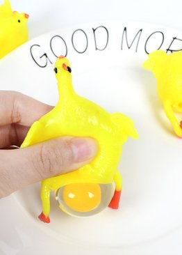 Party Novelty Keyring Squishy Chicken with Egg Toy For Kids ( 2 in 1 set )