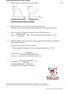 Exam Buddy Elementary Mathematics Sec 3 (2020 Edition) Topic 13: Travel Graphs