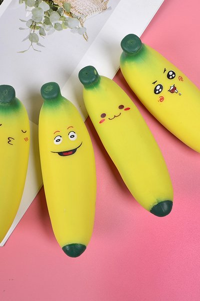 Party Novelty Funny Squishy Banana Stress Reliever Toy For Adults and Kids (2 in 1 set )