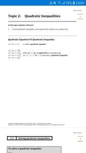 Exam Buddy Additional Mathematics (2020 Edition) Topic 2: Quadratic Inequalities