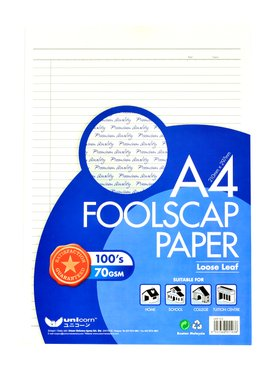 A4 Exam Paper / Foolscap Paper - Twin Pack