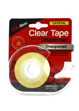CLEAR SCOTCH TAPE WITH DISPENSER 19MMX25.40M