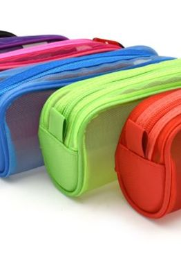 TRANSLUCENT TRENDY RECTANGLE PENCIL CASE