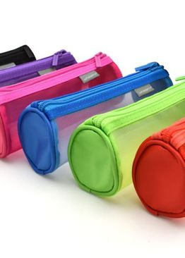 TRANSLUCENT TRENDY ROUND PENCIL CASE