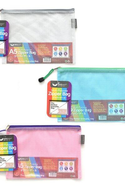 MESH PVC ZIPPER BAG A5