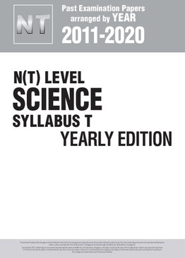 N(T) Level Science Syllabus T Yearly Edition 2011-2020 + Answers