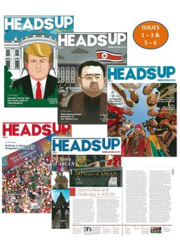 HEADS UP MAGAZINE BUNDLE - 5 ISSUES (1, 2, 3, 5 & 6)