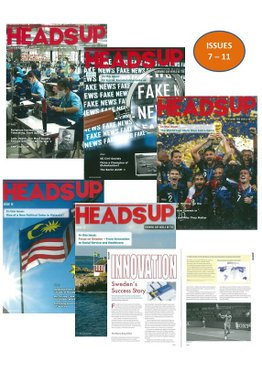 HEADS UP MAGAZINE BUNDLE - 5 ISSUES (7-11)