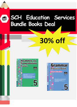 2-in-1 Primary 5  Grammar & Vocabulary and Comprehension book bundle