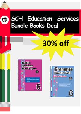 2-in-1 Primary 6  Grammar & English Specimen Papers book bundle