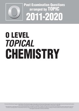 O Level Topical Chemistry 2011-2020 + Answers