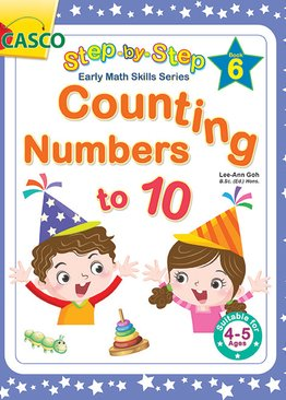 Step by Step Early Math Skills Book 6: Counting Numbers to 10 (for Ages 4-5)