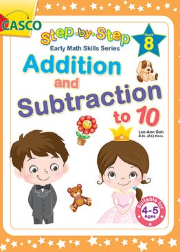 Step by Step Early Math Skills Book 8: Addition & Subtraction to 10 (for Ages 4-5)