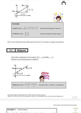 Exam Buddy Additional Mathematics (2021 Edition) Topic 9: Coordinate Geometry